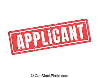 applicant red stamp style