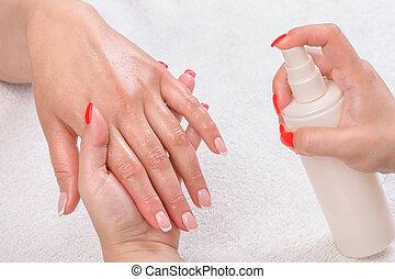 applicare, -, manicure, moisturising