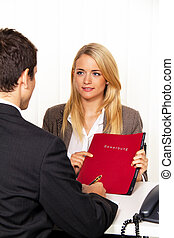 application and presentation. interview with hiring manager...