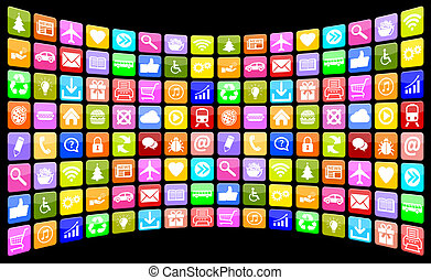Application Apps App Icon Icons multimedia collection for mobile or smart phone