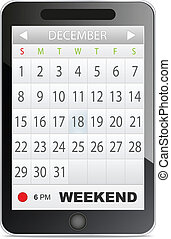 application, calendrier
