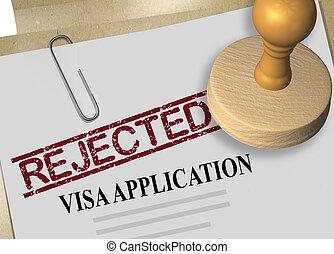 application, concept, visa
