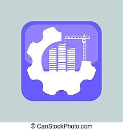 application, construction, icône