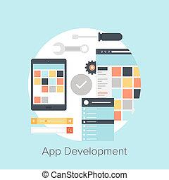 Application Development - Abstract flat vector illustration...
