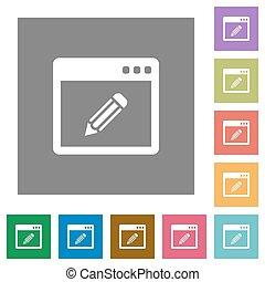 Application edit square flat icons