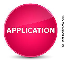 Application elegant pink round button