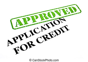 Application For Credit APPROVED - A close-up of an APPROVED...