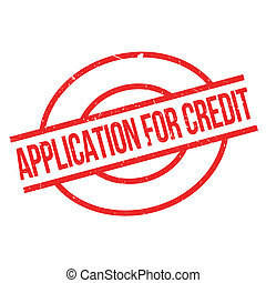 Application For Credit rubber stamp