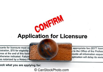 Application for licence