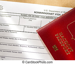 Application form with passport