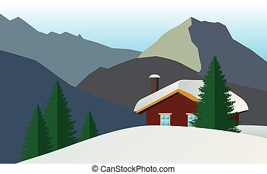Application House in the mountains