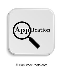 Application icon. Internet button on white background.