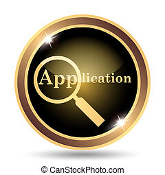 Application icon. Internet button on white background.