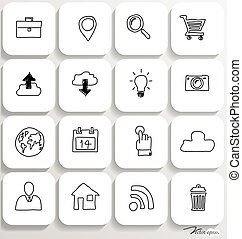 Application icons design set 1. Vector illustration.