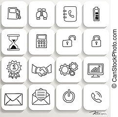 Application icons design set 3. Vector illustration.
