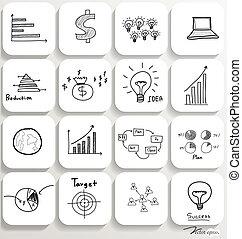 Application icons design set 4. Vector illustration.