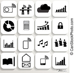 Application icons design set 5. Vector illustration.