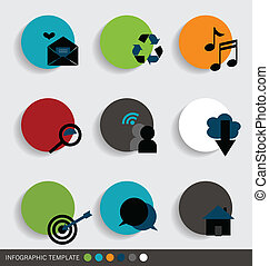 Application icons design. Vector illustration.