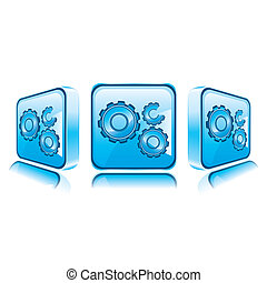 Application icons for Smart Phone isolated on white background