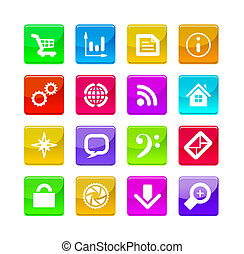 application icons - Color application icons isolated on...