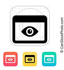 Application monitoring icon. Vector illustration.