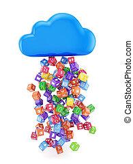 application, nuage, icônes