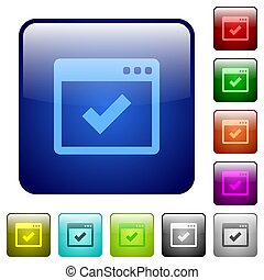 Application ok color square buttons