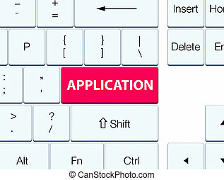 Application pink keyboard button