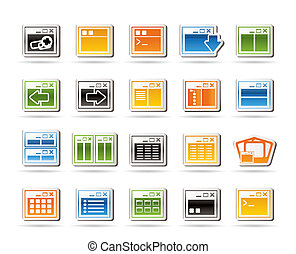 Application, Programming, Server and computer icons vector...