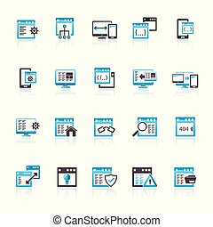 Application programming software icons - vector icon set