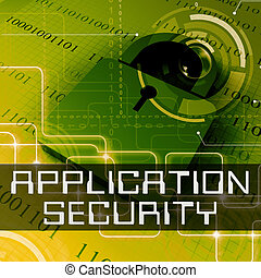 Application Security Shows Program Protection 3d Rendering