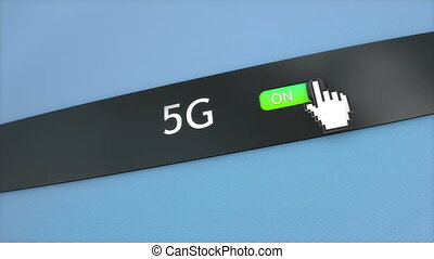 Application setting 5G connectivity