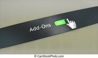 Application setting Add Ons