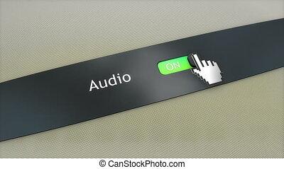 Application setting Audio