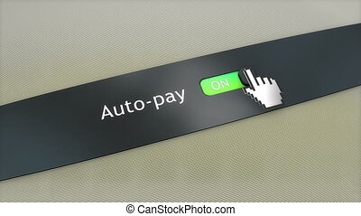 Application setting Auto pay