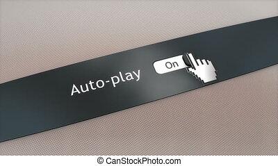 Application setting Auto play