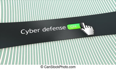 Application setting Cyber defense.