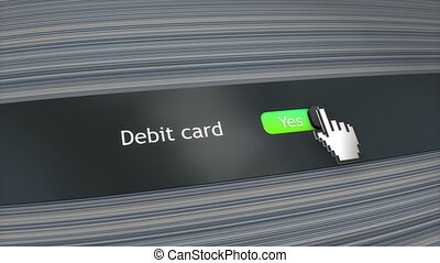 Application setting Debit card