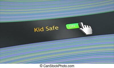 Application setting Kid safe.
