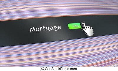 Application setting Mortgage