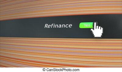 Application setting Refinance