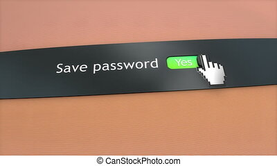 Application setting Save password