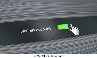 Application setting Saving account