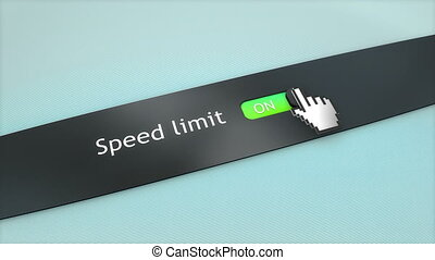 Application setting Speed limit.