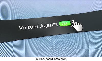 Application setting Virtual agents.