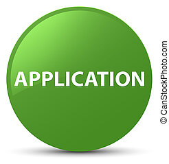 Application soft green round button