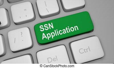 application, ssn, clã©, clavier
