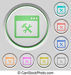 Application tools push buttons