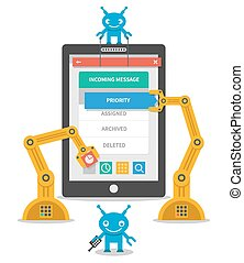 Application user interface development concept