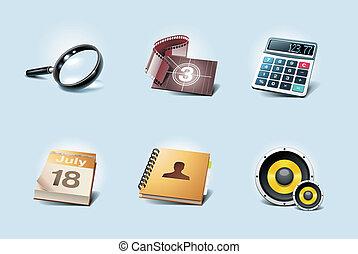 application, vecteur, icons., p.2